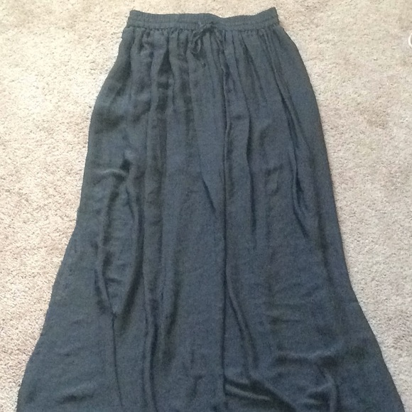 how to find timeless design low price MNG Charcoal Grey Maxi Skirt